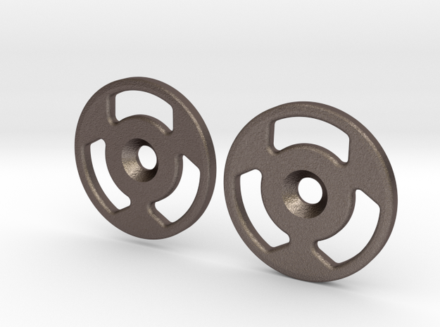 Spinner Caps (SD-MLW) in Polished Bronzed Silver Steel