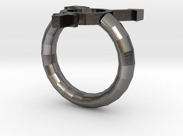 Trans Pride Ring in Polished Nickel Steel: 7 / 54