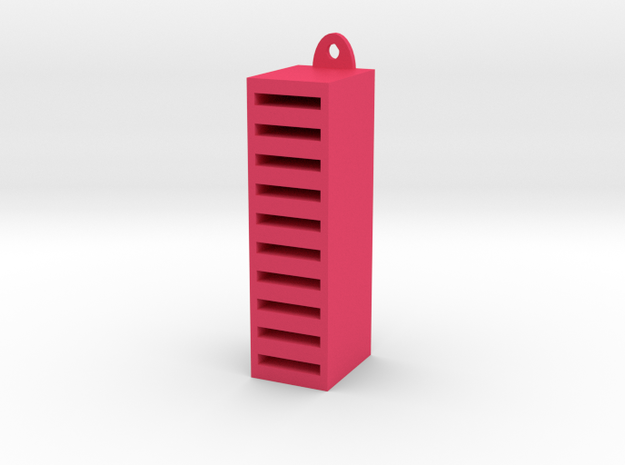 SD Card Holder in Pink Strong & Flexible Polished