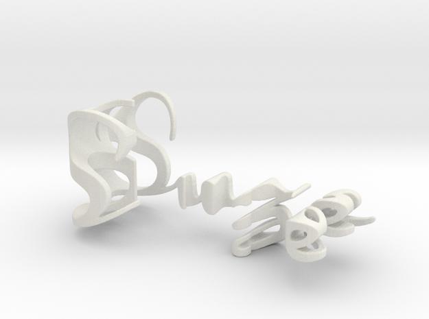3dWordFlip: Suze/Erik in White Natural Versatile Plastic