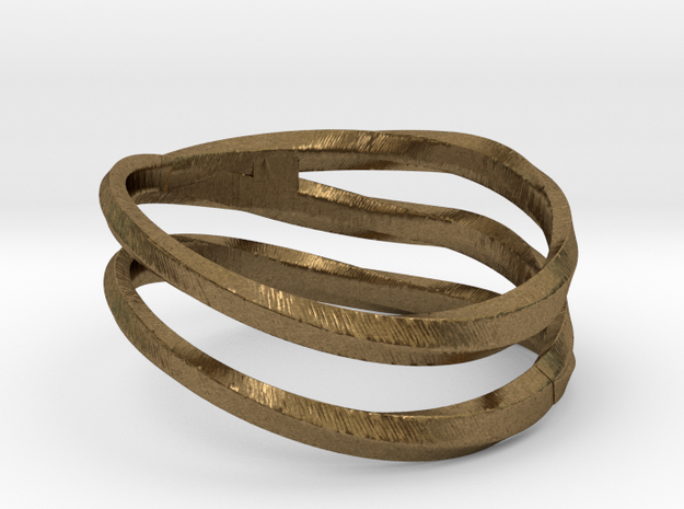 pentatwist waves ring in Raw Bronze: 9 / 59