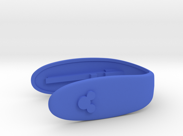 SIMPLE MICKEY KEY FOB  in Blue Processed Versatile Plastic
