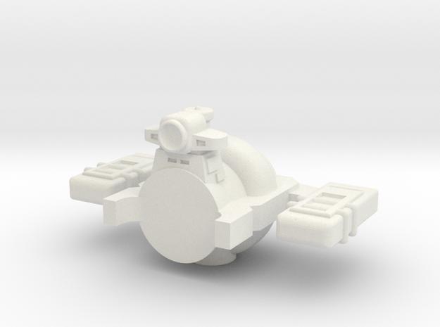 Omni Scale General Harbor Tug SRZ in White Natural Versatile Plastic