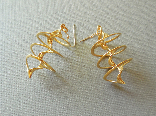 Auger - Earrings in precious metal in 18k Gold Plated