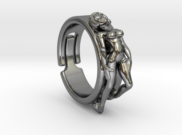Pin Up Ring  in Polished Silver