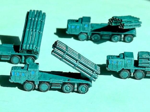 9A52 Smerch MLRS Battery 1/285 6mm 3d printed Add a caption...
