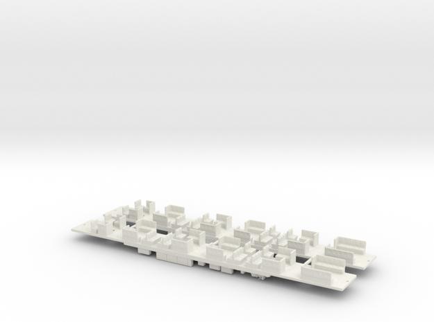 NHC1 - VR Hitachi M Car Chassis Set in White Natural Versatile Plastic