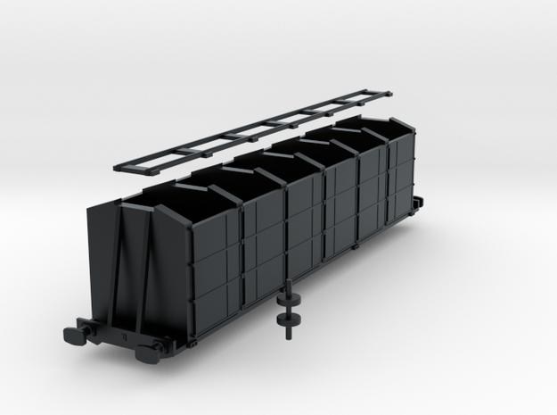 Irish Railways Fertilizer Wagon - N Scale in Black Hi-Def Acrylate