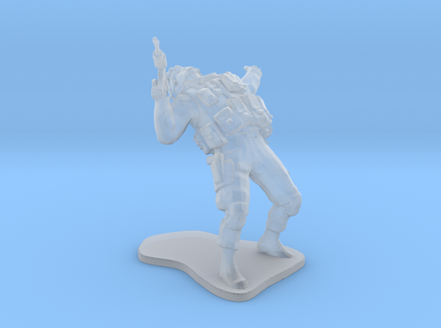 Soldier USA getting shot esc:1/64 (28mm) in Frosted Ultra Detail