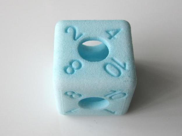 Average D6 Hollow Dice 3d printed Dyed