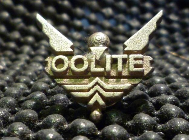 Oolite Pin (one inch) 3d printed In stainless steel.