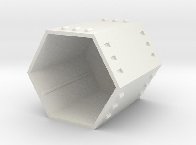 Hex Modular Shelving: Frame in White Natural Versatile Plastic