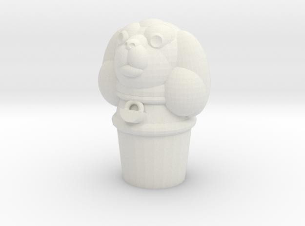 Pupper Stopper II in White Natural Versatile Plastic