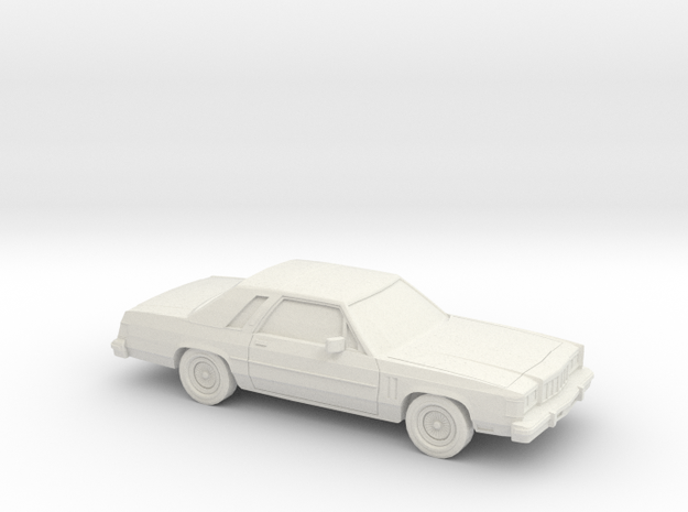 1/64 1979-87 Mercury Grand Marquis LS Coupe in White Strong & Flexible