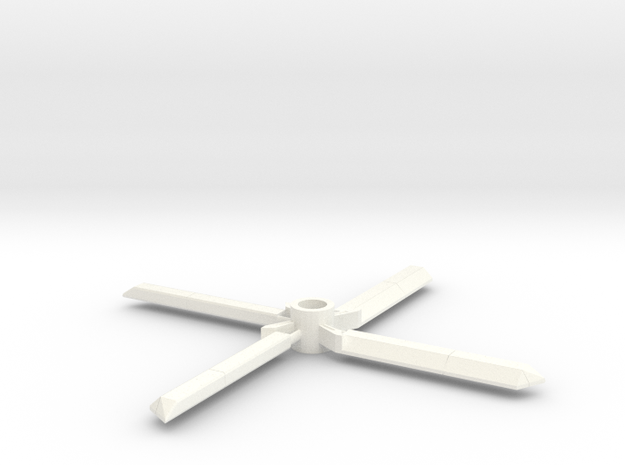 7mm decorative toy rotors in White Strong & Flexible Polished
