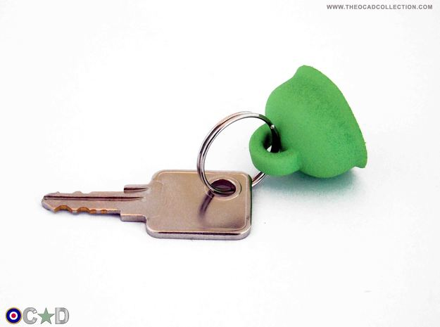 OCAD M38 FALLSCHIRMJAGER HELMET KEYRING HANGER in Green Strong & Flexible Polished