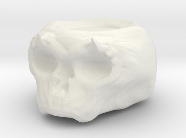 Demonic Skull Candle Holder in White Natural Versatile Plastic
