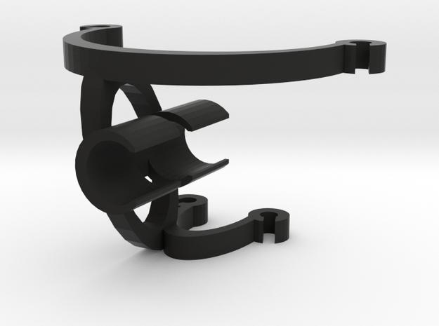 Cello Mic Mount 12mm Horizontal in Black Natural Versatile Plastic