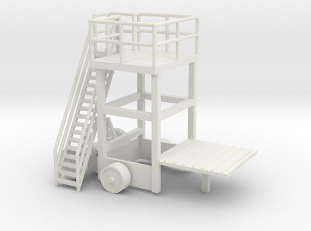 1/64 Sugar Beet Piler Control Tower in White Natural Versatile Plastic