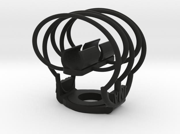 Shockmount Mic Clip 12mm in Black Natural Versatile Plastic