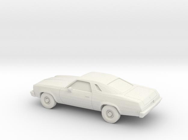 1/87 1975 Chevrolet Chevelle Malibu Classic Coupe in White Natural Versatile Plastic