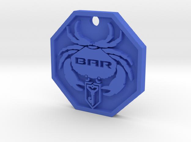 BAR Crab Logo Keychain in Blue Strong & Flexible Polished