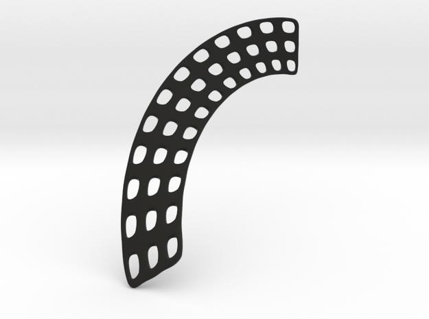 Earring SHELL 07 Fixed 3 in Black Natural Versatile Plastic
