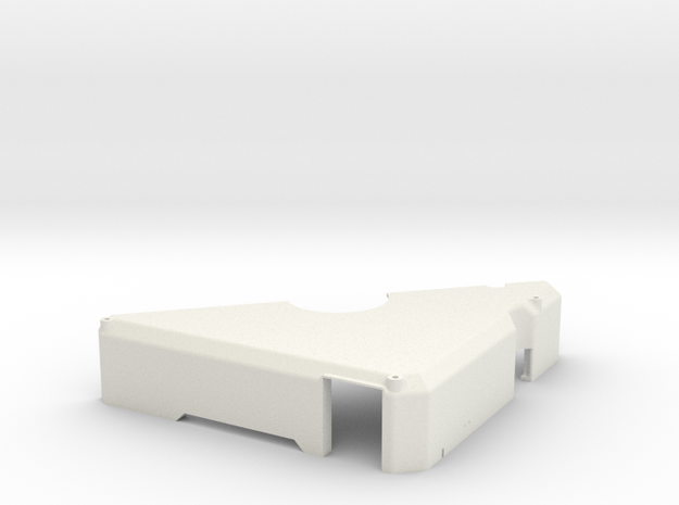 RM-PL-03030011 REV2, DLH Chamber Lid Cover, Hinge, in White Strong & Flexible