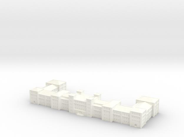 german Barracks 1/1250 scale (GW11) in White Processed Versatile Plastic