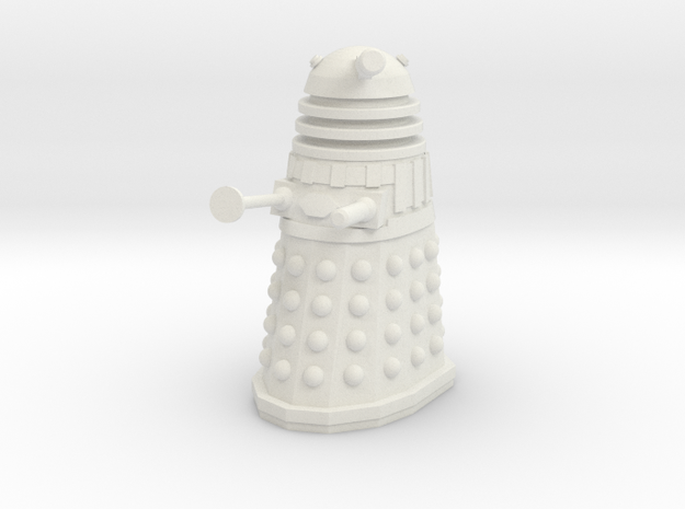 Imperial Dalek - Pose 1 in White Strong & Flexible
