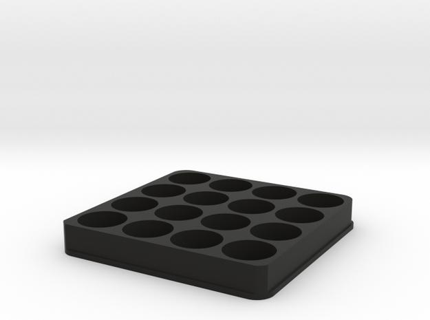 E Juice Holder/Stand 16 60ML Slots in Black Natural Versatile Plastic