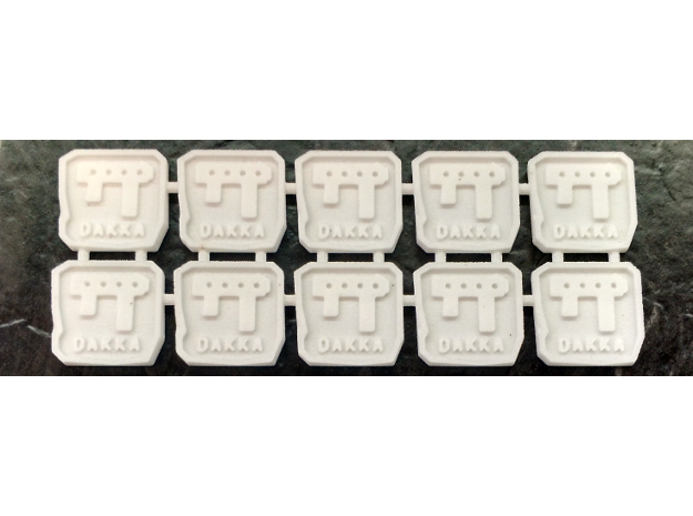 Two-sided Space Ork Action Markers x10 in White Natural Versatile Plastic