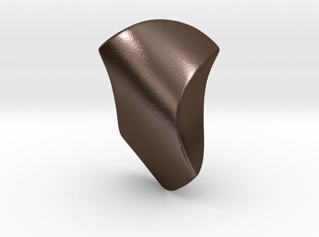 Torso 1 in Polished Bronze Steel