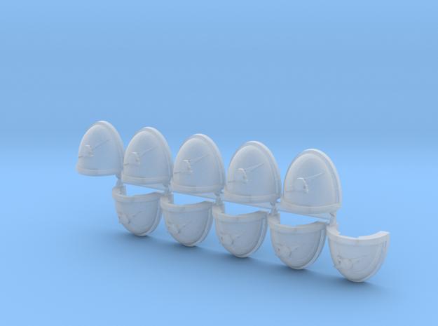 Thunderbolt Skull Shoulder Pads Mk7/8 R x10 in Smooth Fine Detail Plastic