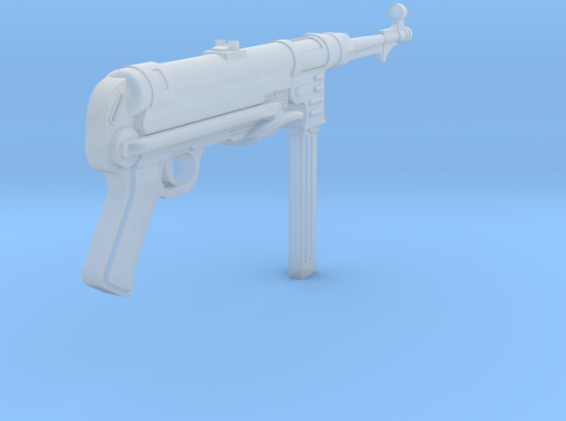 MP40 (folded) (1:18 scale) in Smooth Fine Detail Plastic: 1:18