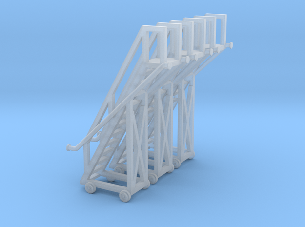 N Tank Car Ladder 3pc in Smooth Fine Detail Plastic