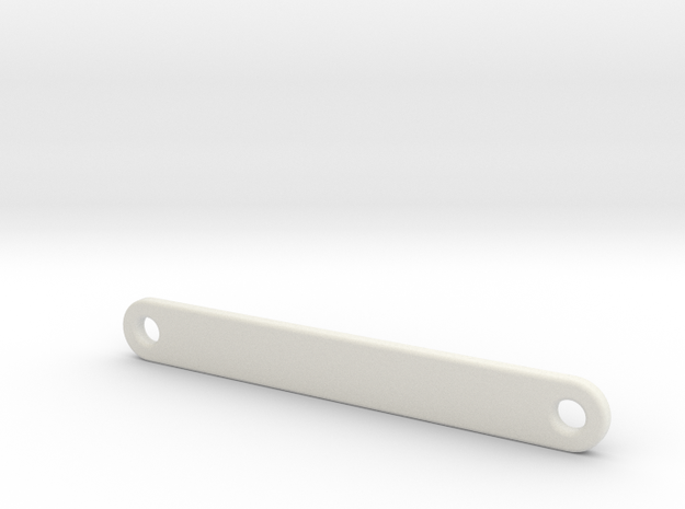 Shorty Battery Strap Optima Mid in White Natural Versatile Plastic