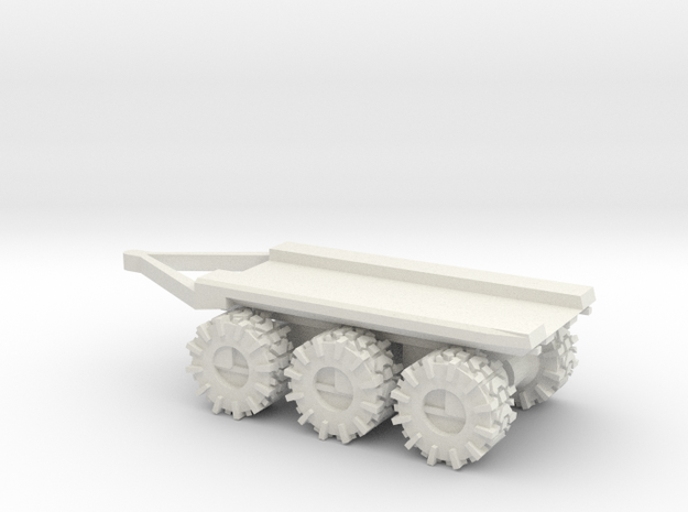 All-Terrain Vehicle 3 axil trailer for modular loa in White Strong & Flexible