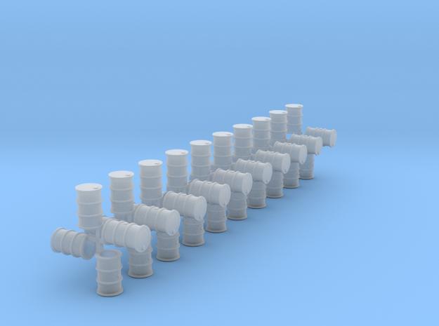 200 Liter Fässer 40er Set hohl - 1:120 in Smooth Fine Detail Plastic