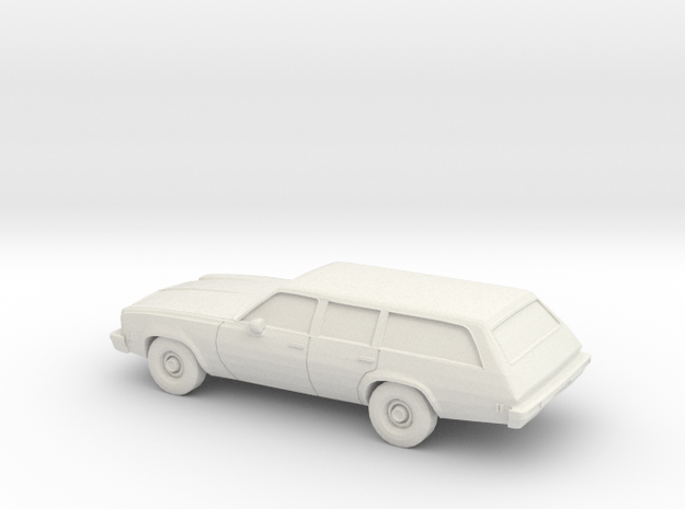 1/87 1975 Chevrolet Chevelle Station Wagon in White Strong & Flexible
