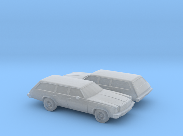 1/160 2X 1975 Chevrolet Chevelle Station Wagon in Frosted Ultra Detail