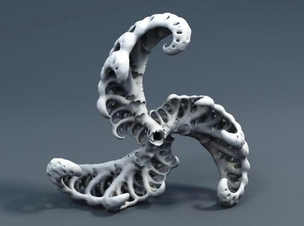 Xeno Ammonite 3d printed Description