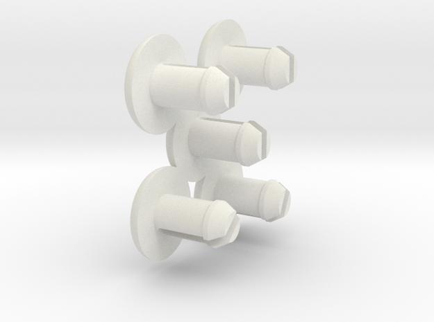 steelcase tanker desk roller retainer set in White Natural Versatile Plastic