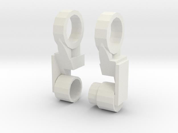 CW Prime Knee extender in White Natural Versatile Plastic