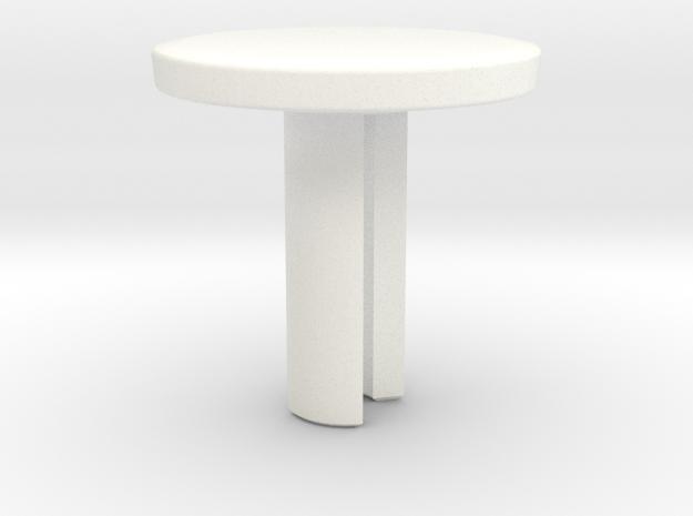 Fidget Spinner Cube Cap - Customizable in White Processed Versatile Plastic