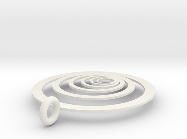Moon Rings in White Natural Versatile Plastic