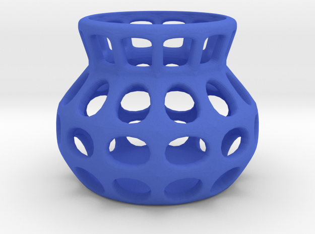 basket in Blue Processed Versatile Plastic