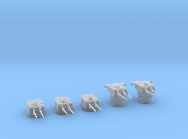 1/600 IJN Type 50 year 3 turrets (8-inch) 1944 Set in Smooth Fine Detail Plastic