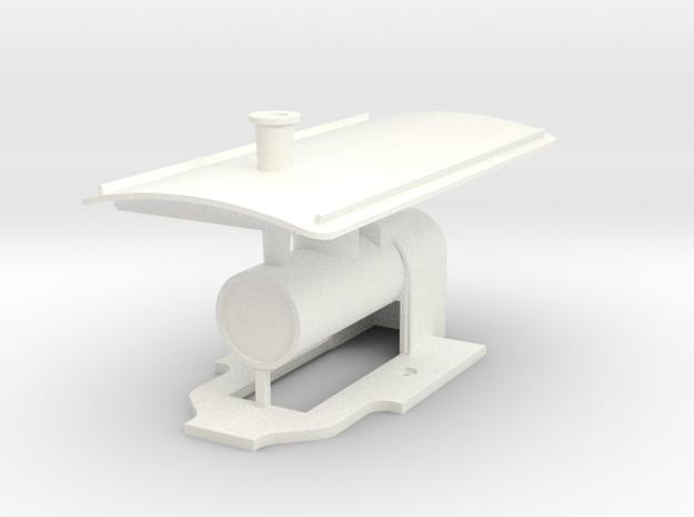 ZE 606 Ketel+dak in White Processed Versatile Plastic
