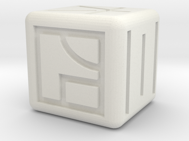 kanji dice in White Natural Versatile Plastic